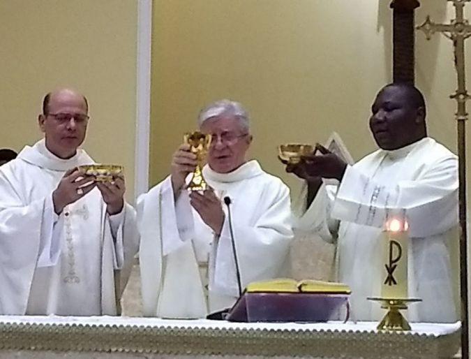 Jubileu de Ouro de Profissão Religiosa do padre Pietro Plona, IMC