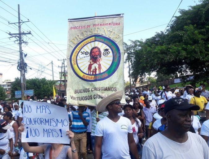 Buenaventura vivió el Paro Cívico dentro de la Semana de la Afrocolombianidad.