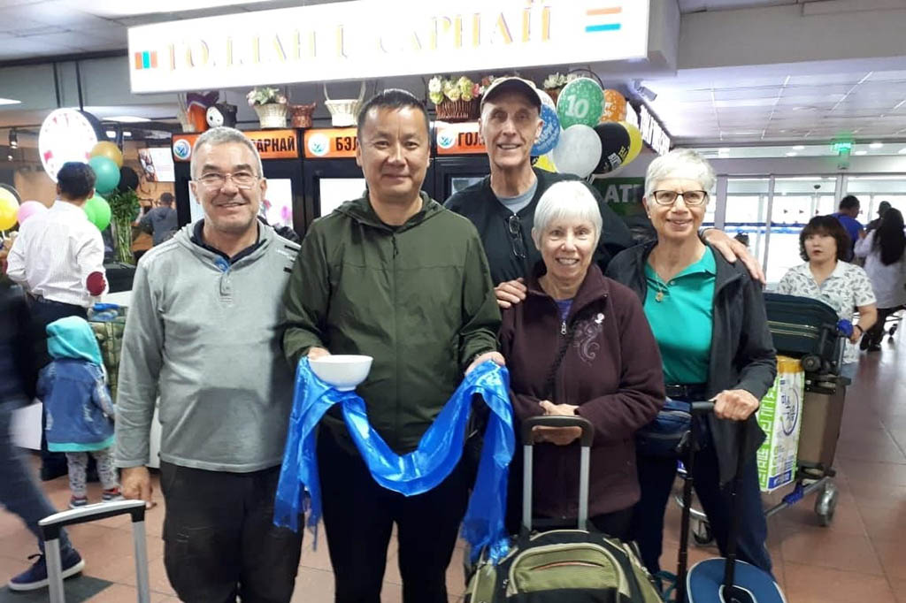 Fr. Paolo and companions are received at the airport Ulaanbaatar Mongolia