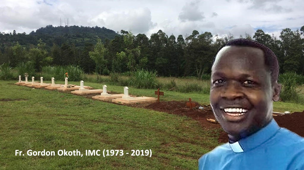 Fr. Gordon Okoth, imc; Smiling with Angels.